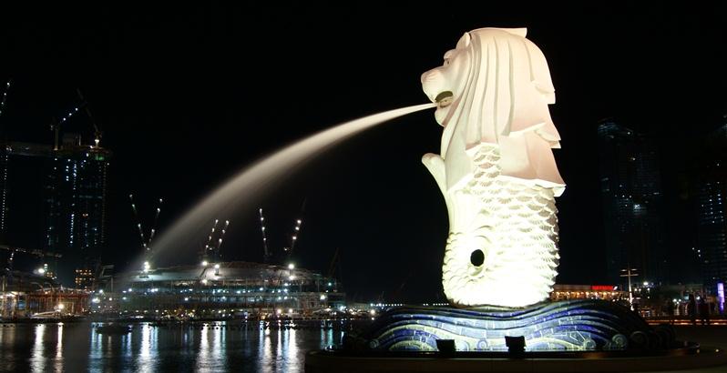 مجسمه MERLION شیر سنگی سنگاپور | تور سنگاپور ,تور ارزان سنگاپور,تور لحظه آخری